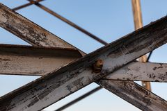 Rusty steel frame Stock Photography