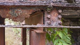Rusty steel girder detail Stock Photography
