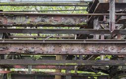 Rusty steel girder detail Royalty Free Stock Photos