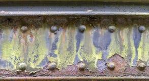Rusty steel girder detail Stock Photo