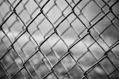 Rusty steel mesh fence Royalty Free Stock Photography