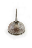 Rusty steel oil can royalty free stock photography