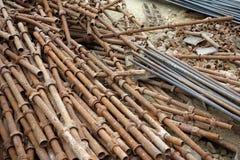 Rusty steel pipe Stock Photo