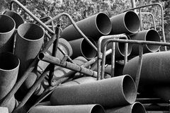 Rusty Steel Pipes Images libres de droits