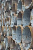 Rusty steel pipes Royalty Free Stock Photos