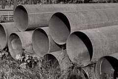 Rusty Steel Pipes Stock Images