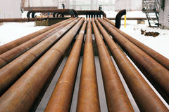 Rusty steel pipes Royalty Free Stock Images
