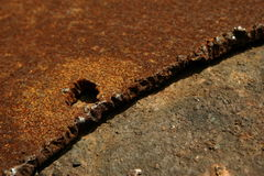 rusty steel plate Royalty Free Stock Photography