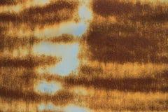 Rusty Steel Plate bakgrundstextur Arkivbilder