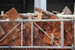 Rusty steel plate Stock Photo