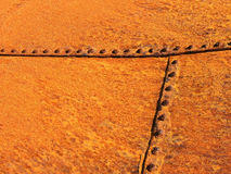 Rusty steel plates. A background of rusty steel plates royalty free stock image