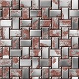 Rusty steel plates. Iron defense. Armor seamless texture background Stock Photography