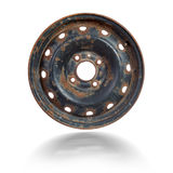 Rusty steel rim isolated Royalty Free Stock Photos