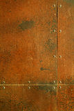 Rusty steel with rivets. Background texture rusty steel sheets with rivets Stock Photo