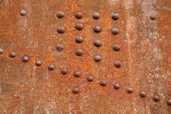 Rusty steel rivets Royalty Free Stock Photo