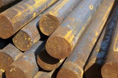 Rusty steel rods Stock Photography