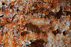Rusty steel texture, rusted metal surfaces Royalty Free Stock Photography