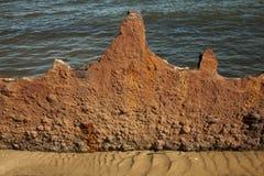 Rusty Steel Textured Surface Abstract bakgrund Royaltyfri Foto