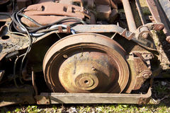Rusty steel wheels Royalty Free Stock Photo