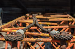 Rusty steel wire Stock Photography