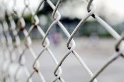 Rusty steel wire mesh Stock Photography