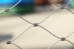 Rusty steel wire mesh fence,soft focus Royalty Free Stock Image