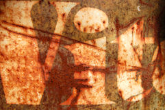 Rusty stencil Stock Photography