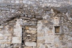Stone wall 1. Rusty stone wall background, historic Stock Image