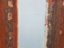 Rusty Stripe Trio Stockbild