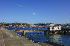 Rusty Structure Outer Harbor Harbour Brixham Devon England UK Royalty Free Stock Photos