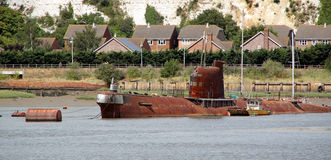 Rusty submarine Royalty Free Stock Photography