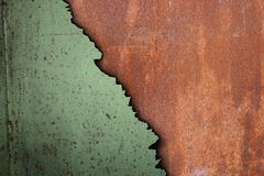 Rusty surface of corroded metal Royalty Free Stock Photography