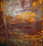 Rusty surface on corroded metal Stock Image