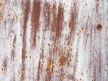 Rusty surface. Covered with rust stains old metal surface Stock Image