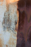 Rusty surface. Rusty metal surface painted old garage Royalty Free Stock Images