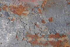 Rusty surface of an old bridge pier royalty free stock photos