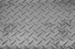 Rusty Surface of  old Checkered Plate Royalty Free Stock Images