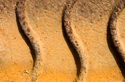 Rusty surface with pattern Royalty Free Stock Photo