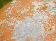 Rusty surface. Rough rusty surface, orange and grey Stock Photos