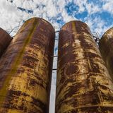 Rusty tanks Stock Images
