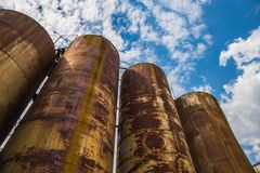 Rusty tanks Stock Photography