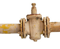 Rusty tap. Rusty old tap with clipping paths stock photos