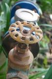 Rusty tap switch Stock Photo