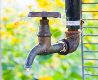 Rusty tap water Royalty Free Stock Photos