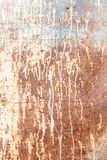 Rusty texture with dripping paint Royalty Free Stock Photography