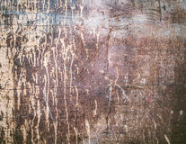 Rusty texture with dripping paint Stock Photos