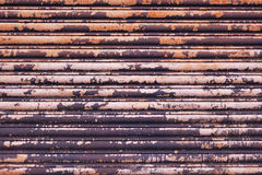 Rusty textured blue metal with peeling white paint texture Royalty Free Stock Images