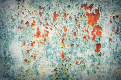 Rusty textured metal background. Cracked background for design Stock Image