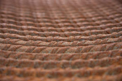 Rusty thick wire in old factory Royalty Free Stock Photos