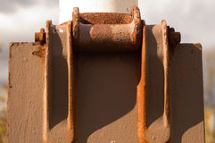Rusty thing 2. Rusty thing in the schoolyard again stock photos